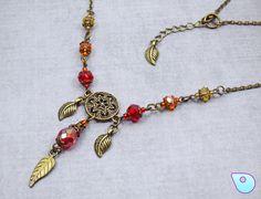 Rustic necklace set, Autumn Necklace, Renaissance Jewelry, fall jewelry, Boho…