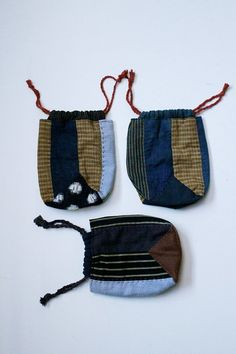 Japanese boro patchwork cigarette case/small/vintage/accessory case/needlework/handmade