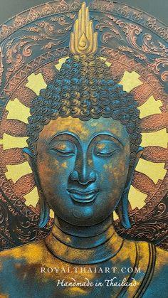 Buddha Artwork, Buddha Wall Art, Buddha Painting, Buddha Temple, Buddha Buddhism, Buddha Life, Art Paintings For Sale, Thai Art, Online Painting