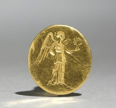 Finger Ring with Figure of Nike Greece, 4th Century BC Date: 300s BC Medium: gold