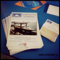 I nostri lavori di #tipografia: #volantini e #bigliettidavisita personalizzati per Cantiere Navale Gardella, #Genova.