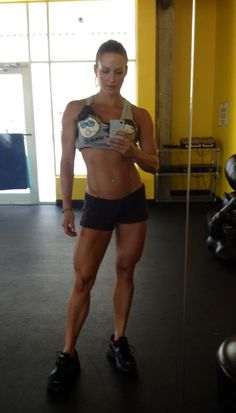 Erin Stern!!! She is such an awesome role model!  Love her!  To get her physique is my ultimate goal.