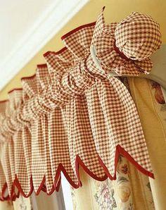 Curtain pole idea for country style curtains.