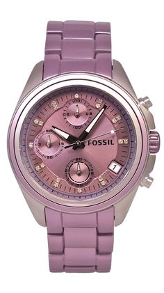 Violet-Fossil Women's Boyfriend Watch. My bday is in sept!!! Hint hint friends!!! - womens white watches, womens watches black, big face watches womens