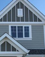 Here 39 s a james hardie board and batten combo the battens for Fiber cement composite roofing slate style