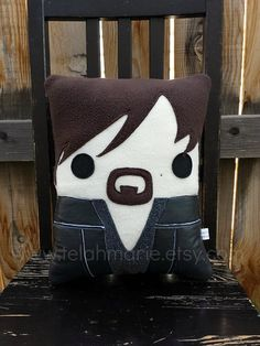Daryl Dixon, The Walking Dead inspired, pillow, plush, cushion on Etsy, $40.00