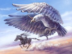 Gudiao- Chinese myth: a bird resembling an eagle with a horn on its head. It was said to live in the mountains and make sounds that resembled the cry of a baby.  Chinese mythology