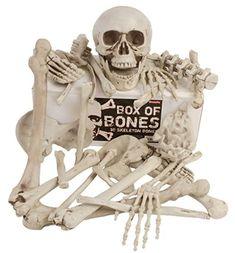 Box Of Bones — 30 Pc Set With Skull, Flexible Jaw, Skeleton Bones