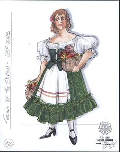 The Taming of the Shrew. Costume design by Bill Black. Utah Shakespeare Festival, Warhammer Fantasy Roleplay, Costume Design Sketch, Teacher Costumes, Fabric Drawing, Millenial Fashion, Costume Patterns, Character Costumes, Costume Makeup