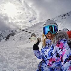 """@juliamancuso is stoked to be back on the mountain after returning from surgery, """"being able to get outside and ski amazing pow with my family and friend was the way to do it!"""" We're so happy you're back, and we can't wait to see you race! #GoPro #GoProGirl"""