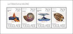 Togo - Volcanoes - Hawai, Alaska - Fossils - 4 Stamp Sheet - 20H-671 (want)
