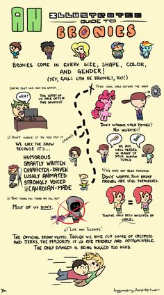 Illustrated Guide To Bronies by DoggonePony on deviantART