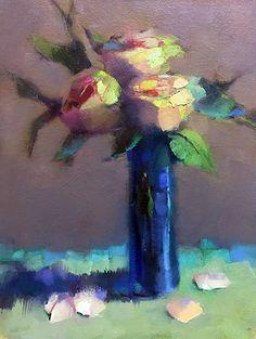 Gather Roses by Trisha Adams Oil ~ 16 x 12