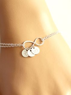 Personalized Infinity Bracelet Infinity Bracelet  by BenyDesign