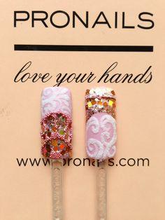 Pronails Nail Art Dust & Jewels Copper Tones AW13-14