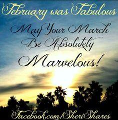 February/March via www.Facebook.com/SheriShares