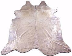 White Cowhide Rug Acid Wash Cowhide rug Size: 8.6 'X 7' Cow Hide G-811  #CowhidesUSA #AcidWashed