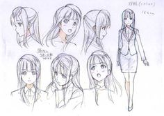 Character , poses , girl Manga Anime, Anime Chibi, Manga Art, Character Model Sheet, Character Modeling, Character Drawing, Character Poses, Drawing Sketches, Drawings