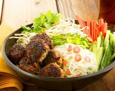 Vietnamese Bun Cha. The pork meatballs are out of this world. http://www.chefd.com/collections/all/products/vietnamese-bun-cha