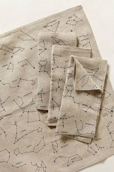 Sky Map Napkins from Anthropologie
