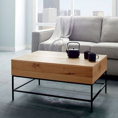 Industrial Storage Coffee Table Westelm Aunt Robin Loves This - West elm lift top coffee table