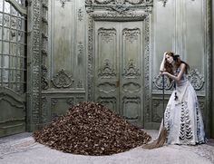 Eugenio Recuenco that he did for an issue of Spanish Vogue in 2003. Poor Cinderella's work never ends...