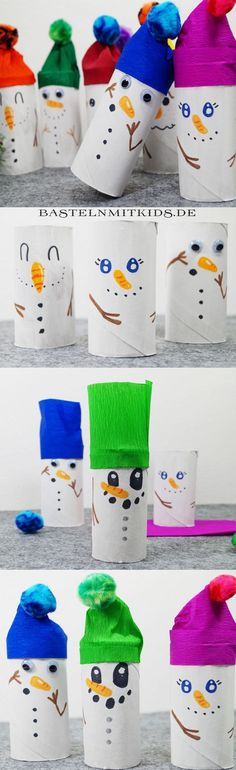 Snowman tinker with kids. For a nice Christmas and winter time. To Snowman tinker with kids. For a nice Christmas and winter time. Kids Crafts, Winter Crafts For Kids, Diy For Kids, Diy And Crafts, Simple Crafts, Card Crafts, Felt Crafts, Advent Calenders, Navidad Diy