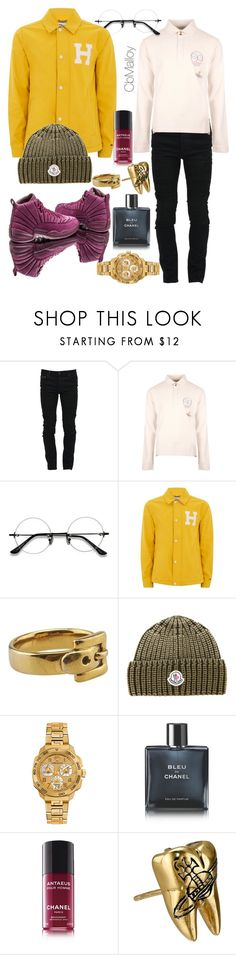 """Paddington"" by barrimalfoy ❤ liked on Polyvore featuring Marcelo Burlon, Vivienne Westwood Man, EyeBuyDirect.com, Topman, Michael Kors, Moncler, Versace, Chanel and Vivienne Westwood"