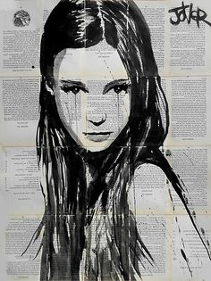 Loui Jover  I love Loui Jover's artwork because of the style and the medium. I like the effect of the work being done on various pieces of fabric and paper. His work can relate to the subject Fragments because of the imagery and also the 'fragments' of paper upon which his drawings/paintings are done.