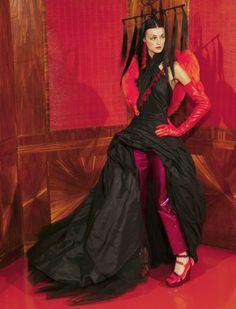 Jean Paul Gaultier haute couture F/W 2001// hair headdress by Odile Gilbert