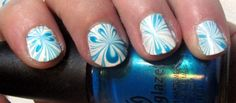 A Burst of Blue Water Marble