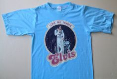 70s Vintage Elvis Presley 1977 TShirt  SMALL 3436 by PartyNaked, $30.00