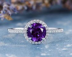 HANDMADE RINGS & BRIDAL SETS by MoissaniteRings on Etsy Amethyst, Sapphire, Bridal Ring Sets, Handmade Rings, Trending Outfits, Unique Jewelry, Engagement Rings, Merry, Vintage