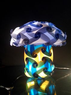 Mushroom lampshade can make in variety of shapes, colors and sizes. Can fit for kid's room/living room/indoor/outdoor Can use as hanging lamps/table lamp/floor lamp.