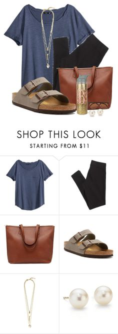 """""""4:36am"""" by preppiikygirl ❤ liked on Polyvore featuring H&M, American Eagle Outfitters, Birkenstock, Vince Camuto, Blue Nile and Vero Moda"""