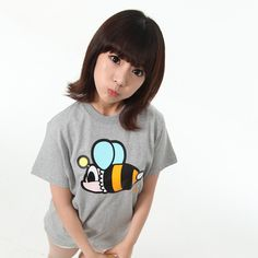 PANCOAT - POPBEE ROUND T-SHIRTS (HEATHER GRAY)