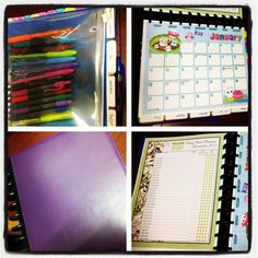 Life planner. Made with M by Staples Arc Customizable Notebook system. Also used hello cutness calendar