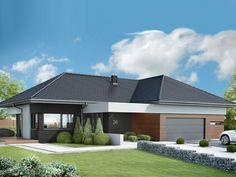 Bungalow House Design, Modern House Design, New House Plans, Modern House Plans, Dream Home Design, Home Design Plans, Exterior House Colors, Exterior Design, Modern Family House