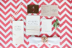 Love the layout/styling.  Rustic chic invites by Anna Michelle Cards, styled by HGE
