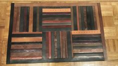 Recycled belt floor mat