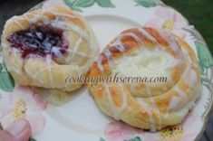 Danishes from scratch with different filling options (how to make crepe cake) Danish Dough Recipe, Fruit Danish Recipe, Cheese Danish Recipe From Scratch, Danish Recipes, Fruit Recipes, Dessert Recipes, Desserts, Recipies, Donut Recipes