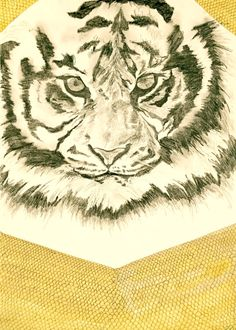 Safari Tiger Print  Original artwork from by PeachStatePrints