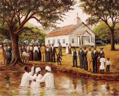 12 Pieces of African American Church Art We Love - Black Southern Belle African American Artwork, African American History, American Artists, American Women, Black Art Painting, Black Artwork, Black Church, Black Art Pictures, Black Love Art
