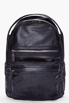 Alejandro Ingelmo Black Leather Berlin Backpack for Men | SSENSE