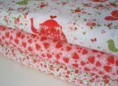 Michael Miller Strawberry Tea Party $24.75 for 3 yards