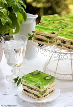 not sure what exactly these kiwi jello squares are, but they are pretty