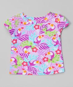 Another great find on #zulily! Lavender Toucan Cap-Sleeve Rashguard - Infant & Toddler by i play #zulilyfinds