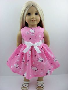 Pink Hello Kitty Ladybug Doll Dress for the American Girl Doll