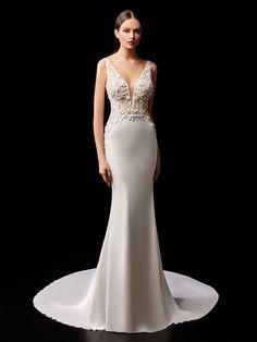 Patty - 2021 Enzoani | Enzoani Bridal Dresses, Wedding Gowns, Bridal Reflections, Bridal Dress Design, Bridal Looks, Dress Collection, Marie, Body Contouring, Wedding Pinterest