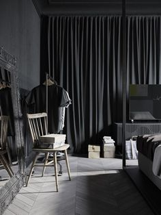 A conceptual apartment - dark and industrial (desiretoinspire.net)